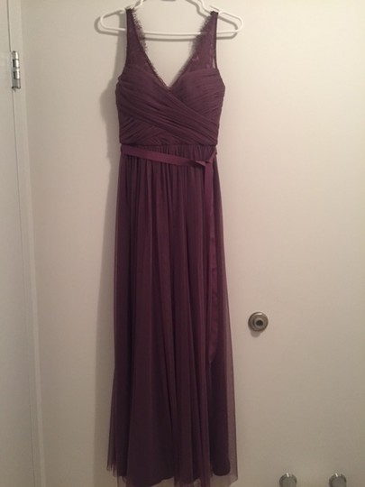 BHLDN Antique Orchid Tulle Fleur Formal Bridesmaid/Mob Dress Size 0 (XS) Image 3