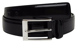 Gucci Black Patent Leather Square Buckle Belt 80/32 345658 DKE0N 1000