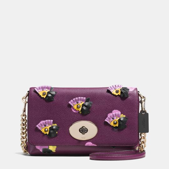 Coach COACH FLORAL APPLIQUE LEATHER CROSSTOWN CROSSBODY NWT
