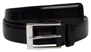 Gucci Black Patent Leather Square Buckle Belt 120/48 345658 DKE0N 1000