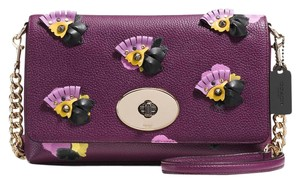 Coach F52744 Satchel in LI/PLUM/FIELD FLORAL