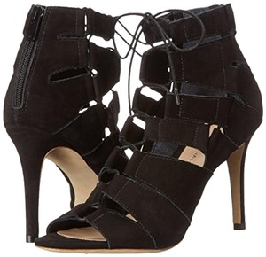 Loeffler Randall Sandal Lace Up Nubuck Dressy Black Sandals