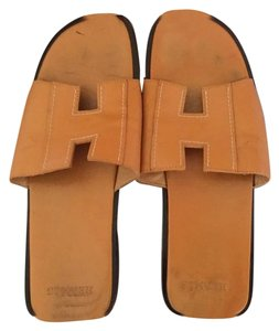 Herms Tan Sandals
