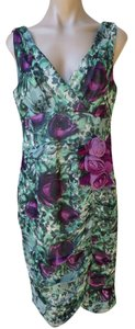 Nanette Lepore Silk Floral Print Formal Party Size 12 Dress