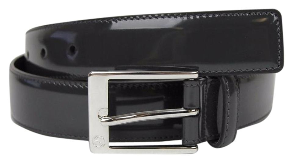 ddaa633e10f Gucci Patent Leather Belt with Square Buckle 80 32 345658 DKE0N 1107 Image  0 ...