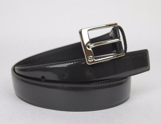 Gucci Patent Leather Belt with Square Buckle 85/34 345658 DKE0N 1107
