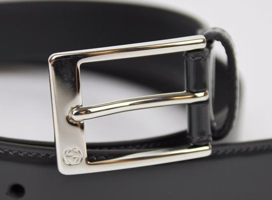 Gucci Patent Leather Belt with Square Buckle 110/44 345658 DKE0N 1107