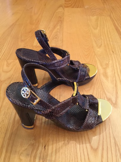 Tory Burch Leather Gold Hardware Brown Sandals