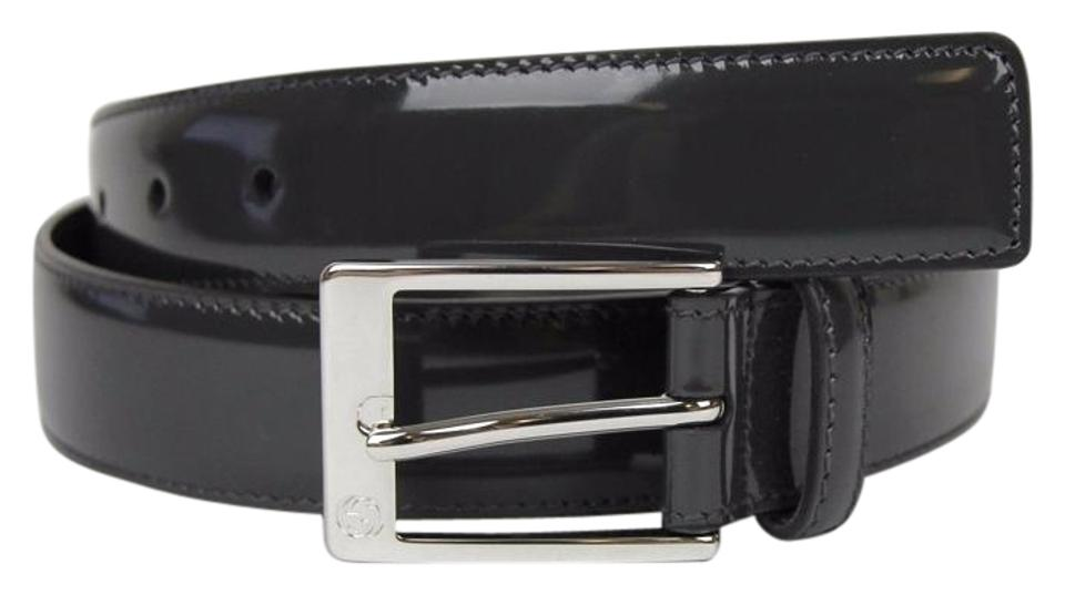 662c1a42480c Gucci Patent Leather Belt with Square Buckle 115 46 345658 DKE0N 1107 Image  0 ...