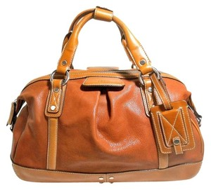 Cole Haan Leather Satchel in Tan