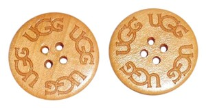 UGG Australia TWO (2) Natural Varnished UGG Replacement Buttons (30mm)