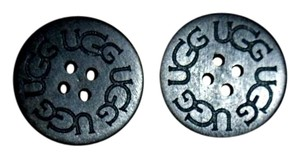 UGG Australia TWO (2) BLACK UGG Replacement Buttons (30mm)