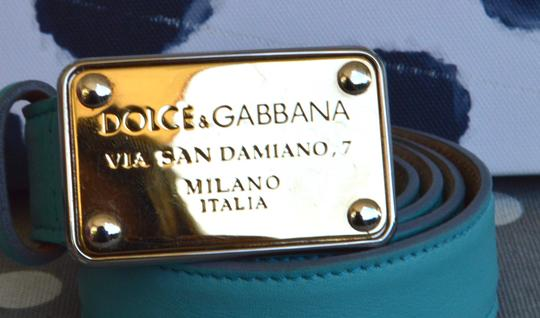 Dolce&Gabbana Dolce & Gabbana Turquoise Leather Belt