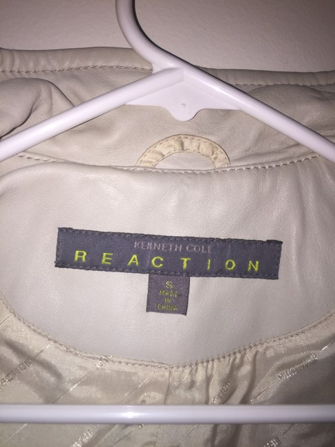 Kenneth Cole Reaction white / off white Leather Jacket