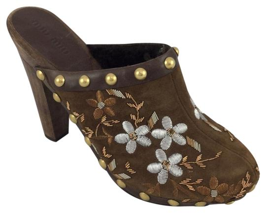 Miu Miu Brown Mules