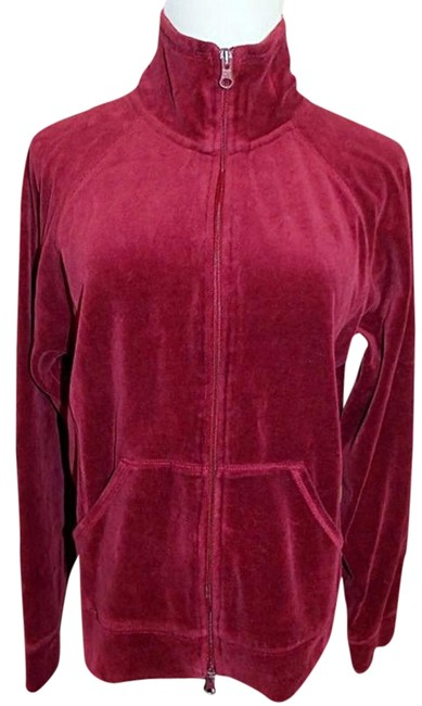 Preload https://item1.tradesy.com/images/cranberry-red-velour-track-zipper-size-12-l-19813650-0-1.jpg?width=400&height=650