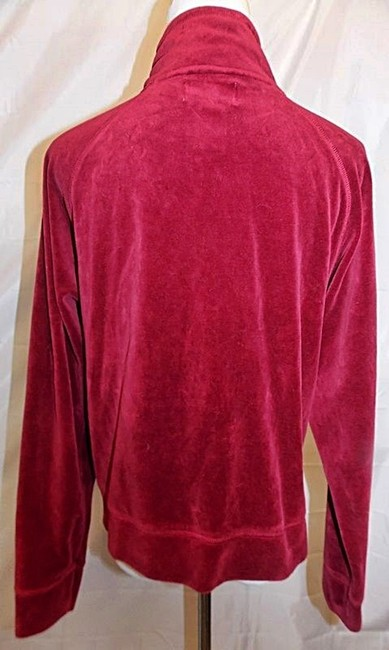 NYL New York Laundry Track Velour Zipper Front Cranberry Red Jacket