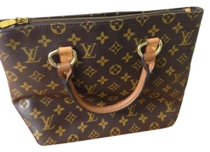 Louis Vuitton Classic Tote in Small Monogram Canvas Bucket Bag - Brown and Tan