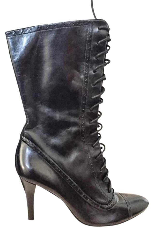 917280868863 Enzo Angiolini Black Lace Up Victorian Inspired Boots Booties Size ...