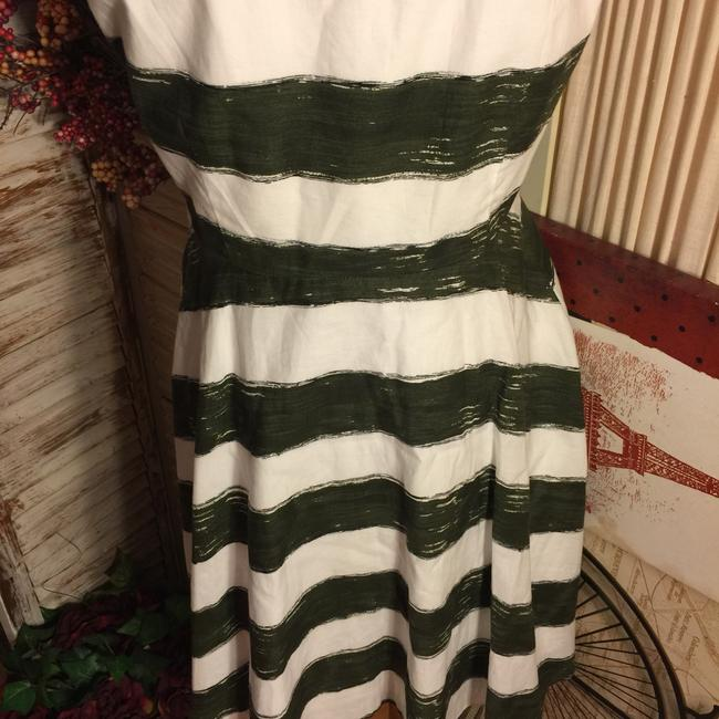BB Dakota short dress Olive Green/White on Tradesy