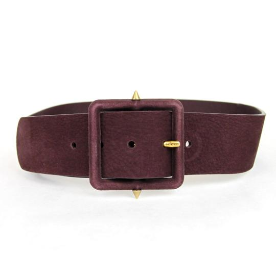 Gucci Authentic Gucci Wide Suede Belt w/Studs Carminio Red 90/36 303868 5033