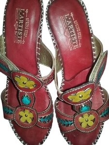 Spring Step RED/ Multi Colors Sandals