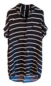 Madewell short dress Brown and White Stripe on Tradesy