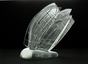 Lalique France Crystal 32nd America's Cup Sculpture New With Box,tags