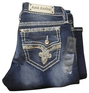 Rock Revival Janelle Boot Cut Jeans-Dark Rinse