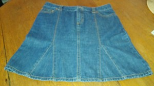 Tommy Hilfiger Denim Size 12 Skirt Blue