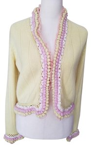 Chanel Cardigan Cashmere Lace Pink Sweater