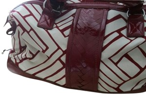 Cole Haan Nwot Luggage Weekender Carry-on RED / WHITE Travel Bag
