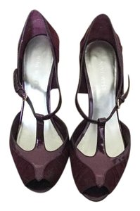 Nine West Vintage Peep Toe Retro Burgundy Pumps