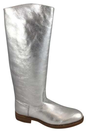 Preload https://img-static.tradesy.com/item/19814211/silver-leather-bootsbooties-size-us-9-regular-m-b-0-1-540-540.jpg