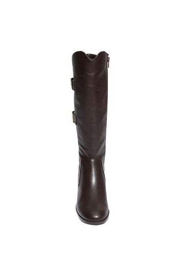 Sanzia Equestrian Riding Knee High Tall Brown Boots