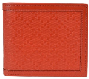 Gucci Gucci Men's 225826 Oxidation RED Leather Diamante Bifold Wallet