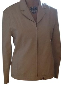 Liz Claiborne Beige/light gray Leather Jacket
