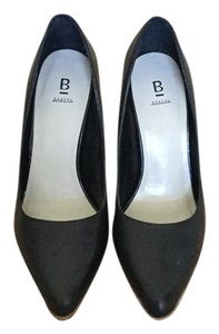 Bakers Wooden Heel Black Pumps