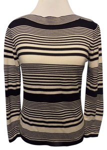 Talbots Lightweight Cotton Striped Sweater