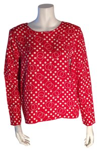 Ivy & Aster Vintage Red Size Small Top Red, White
