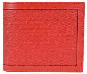 Gucci Gucci Men's 365471 Tabasco RED Leather Diamante Bifold Wallet