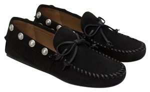 Zara Suede Loafers Studded black Flats