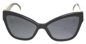 Chanel CHANEL BUTTERFLY GOLD BLACK SUNGLASSES OVERSIZED