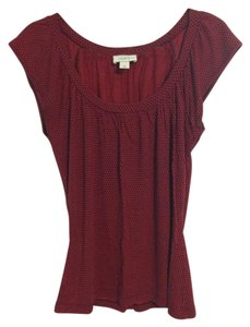 Ann Taylor LOFT Top Red/Black