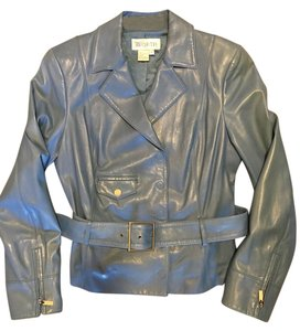 Worth Leather Geniune Chic Blue Leather Jacket