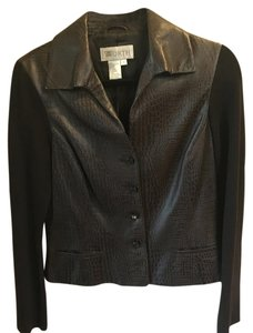Worth dark brown Leather Jacket