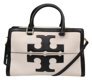 Tory Burch Satchel in White/Black