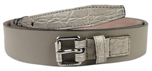 Gucci Leather Crocodile Belt w/Square buckle 100/40 341747 1523 btt60