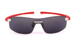 TAG Heuer Tag Heuer 3973 Shield Sunglasses 102 Red / Grey Lens Authentic