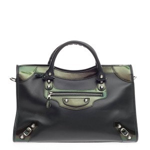 Balenciaga Leather Satchel in Green